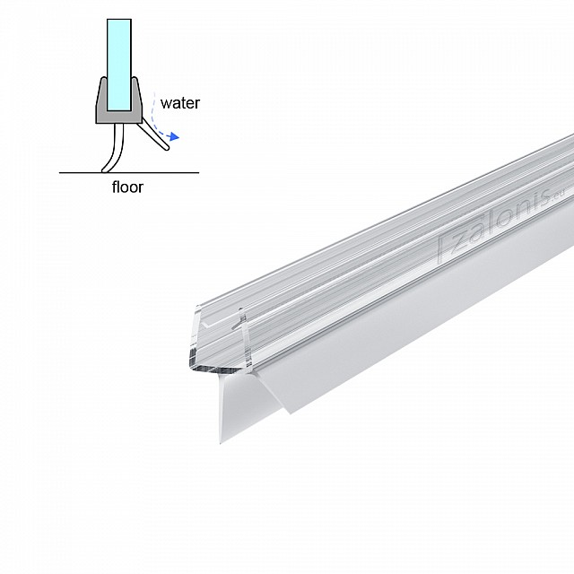 TWO FINS SHOWER SEAL FOR 6-8mm GLASS